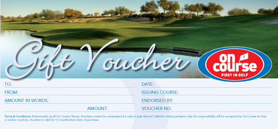 on course gift voucher