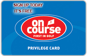 on course priveldge card