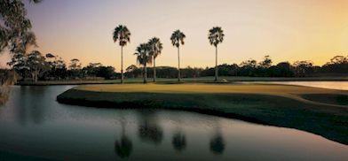 The beautiful Sanctuary Cove Palms course